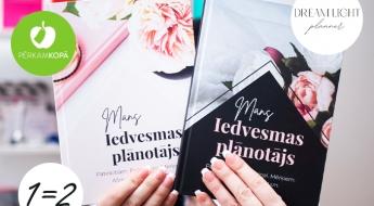 """RADĪTS LATVIJĀ! """"Dream Light Planner"""" iedvesmas, mērķu u.c. rokasgrāmata sievietēm + otra DĀVANĀ"""