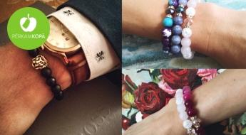 """""""LadyBee jewelry"""" dabisko akmeņu rokassprādzes un auskari"""