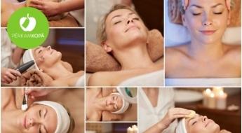 """Gatavojamies svētkiem! 12 etapu sejas procedūra: AHA pīlings + ultraskaņas tīrīšana + """"Darsonval""""+ hialuronskābes kokteiļa ievadīšana u.c. + dāvanā parafīna maska rokām (1 h 15 min)"""