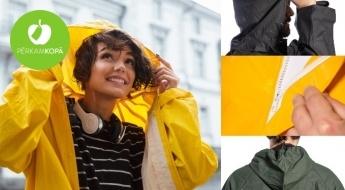 Ūdensizturīgi lietusmēteļi vai bikses un jaka dažādās krāsās (M-XXL)