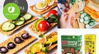 """Ražots Latvijā! """"Krippu"""" turku zirņu krekeri vai salmiņi ar dažādām garšām + JAUNUMS: bioloģiskie zirņu krekeri ar rozmarīnu"""