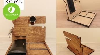 Radīts Latvijā! Jauni dizaini - koka organizatori vīriešu aksesuāru glabāšanai