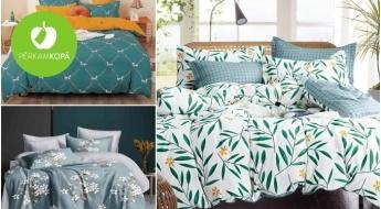 Mikrošķiedras gultas veļa ar mūsdienīgu divpusēju dizainu - dažādu izmēru komplekti