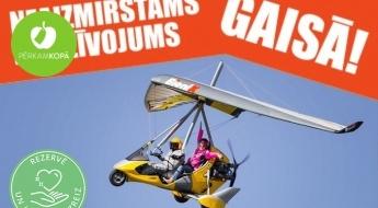 Neaizmirstams piedzīvojums gaisā - testa lidojums ar motodeltaplānu virs Rīgas ar instruktoru 1 personai (10 vai 20 min)