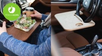 """Auto stūres galdiņš ar vai bez personalizēta gravējuma """"Stūres Draugs"""""""