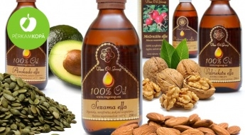 100% dabīgās eļļas - pilnvērtīgām rūpēm par Tavu veselību un skaistumu! Omega 3, Omega 6 un Omega 9 avots