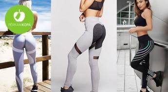 Sportiskā gara uzturēšanai! Stilīgi fitnesa legingi sporta zāles apmeklēšanai, jogai vai skriešanai (S-L)