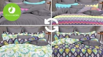 Saldam miegam! 100% mikrošķiedras auduma divpusēji gultas veļas komplekti - dažādi dizaini un izmēri