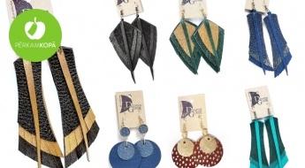 """RADĪTS LATVIJĀ! """"Dizains Gunde"""" jauno un ekscentrisko kolekciju košie dabīgās ādas auskari"""