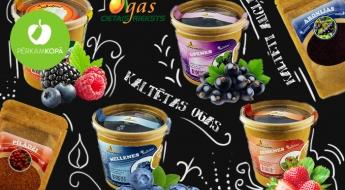 """Radīts Latvijā! Gardā un veselīgā """"Cietais rieksts"""" produkcija: kaltētas ogas un augļi, gailenes, dažādas tējas u.c."""