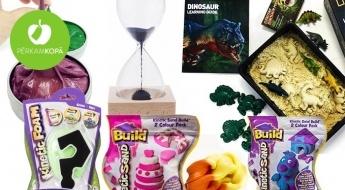 Jautras un izglītojošas spēles bērniem! Gudrais plastilīns, formiņas, pulkstenis ar magnētiskām skaidiņām u.c. preces