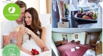 Plašs numuriņš viesnīcā TIGRA + burbuļvanna + šampanietis + augļi + brokastis