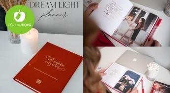 """Mērķiem un motivācijai! """"Dream Light Planner"""" plānotājs sievietēm (bez datumiem)"""