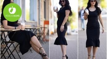 Radīts Latvijā! MAKE kokvilnas trikotāžas kleita dažādās krāsās