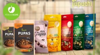 Ražots Latvijā! PUPUCHI grauzdētas pupas ar sāli vai bez, ar pipariem, ķiplokiem vai šokolādē
