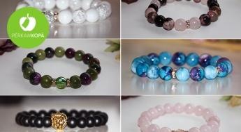 """""""LadyBee jewelry"""" dabisko akmeņu rokassprādzes"""