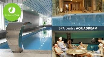 SPA centra AQUADREAM vienreizējs apmeklējums vai abonements 1 personai - baseins, pirtis, džakuzi, masāžas strūkla u.c.