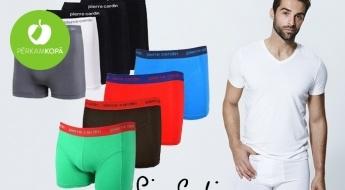 Kvalitāte, elegance un komforts - tas raksturo PIERRE CARDIN! Vīriešu bokseršorti, t-krekli, apakškrekli, un džemperi dažādās krāsās un izmēros