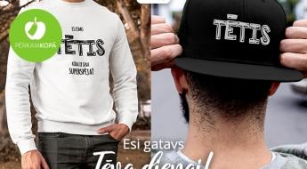 Radīts Latvijā! BABUSH WEAR t-krekli, džemperi un cepures mīļajiem tētiem