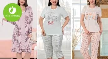 Ērtas un maigas pidžamas no 100% kokvilnas! Daudz dažādu dizainu un plašs izmēru klāsts - līdz pat 4XL!