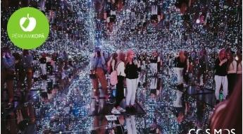 """Biļete uz """"Cosmos"""" ilūziju muzeju - optiskās ilūzijas, labirints, galaktiku istaba u.c."""