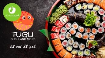 Lieliskas atlaides iecienīto suši setu SET TSUNAMI (52 gab.) vai FUTUOKI (82 gab.) iegādei