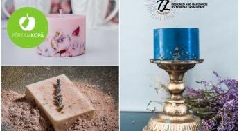 """Radīts Latvijā! """"TL Candles"""" sojas vaska sveces, aromātiskie vaski un kazas piena ziepes"""