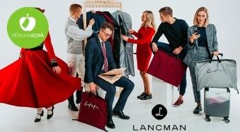 """RADĪTS LATVIJĀ!  """"Lancman bags"""" tērpu aizsargmaisi - standarta, sānos paplašinātais vai biznesa klases! Vari izvēlēties bez apdrukas vai ar uzrakstiem LATVIETIS/LATVIETE"""