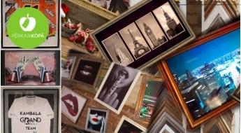 25% atlaide fotogrāfijas, mākslas darba vai cita priekšmeta ierāmēšanai