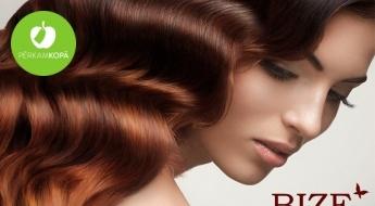 """Atsvaidzini frizūru! Matu krāsošana vienā tonī + griezums + veidošana salonā """"Bize"""""""