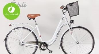 BEZMAKSAS PIEGĀDE VISĀ LATVIJĀ! Elegants sieviešu pilsētas velosipēds ŽUBĪTE + grozs un zvaniņš