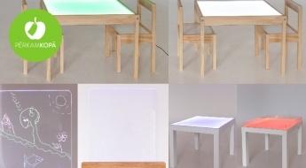 Maģiskām rotaļām: galds ar izgaismotu virsmu vai gaismas molberts unikāliem mākslas darbiem