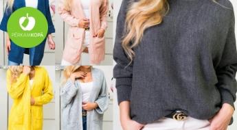 Pavasara garderobei! Ērti sieviešu džemperi un garās jakas dažādām gaumēm