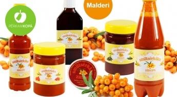 """LATVIJĀ RAŽOTAS veselīgās """"Malderu"""" smiltsērkšķu eļļas, želejas, ziedes u.c."""
