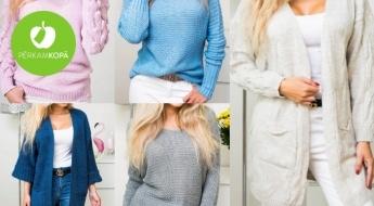 Silti sieviešu džemperi un garās jakas dažādām gaumēm