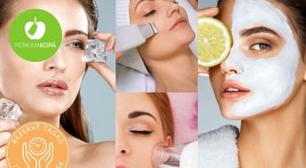 12 etapu atjaunojošā procedūra sejai - AHA pīlings, ultraskaņas tīrīšana, maskas u.c. ar 56% atlaidi!