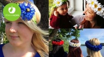Radīts Latvijā! SUMMERBOX mākslīgo ziedu vainadziņi un matu lentes Līgo svētkiem