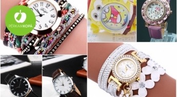 IZPĀRDOŠANA! Sieviešu un vīriešu rokas pulksteņi dažādām gaumēm + rotaļu pulksteņi bērniem un LCD tāfeles