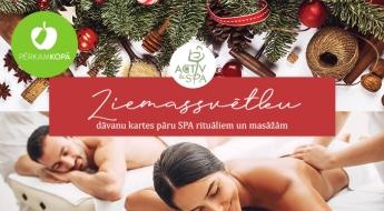 SPA rituāli un masāžas PĀRIM Ziemassvētku noskaņās, ar svētku aromātiem un eļļām