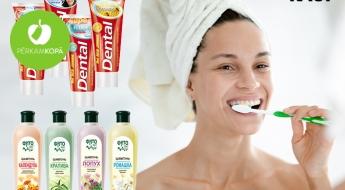 """""""Dental Jumbo"""" zobu pastas (250 ml) un """"Fito Bum"""" šampūni (1 l) - dažādi veidi"""