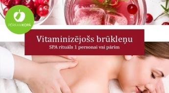 """Vitaminizējošs brūkleņu SPA rituāls 1 personai vai pārim salonā """"Boutique Lea"""""""