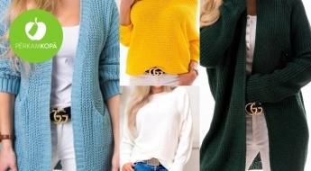 Ērti sieviešu džemperi un garās jakas - 8 skaisti modeļi dažādām gaumēm
