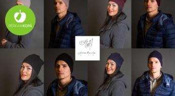 RADĪTS LATVIJĀ! Klasiskas sieviešu un vīriešu kokvilnas cepures dažādās krāsās