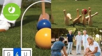 Aizraujošas dārza spēles visai ģimenei - petanka, badmintons, domino, krokets u.c.