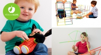 Attīstošas rotaļlietas bērniem: animāciju tēls BINGS un konstruktors SALMIŅI