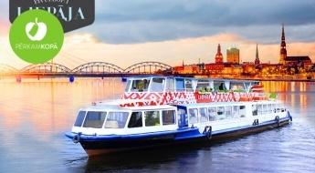 """Baudi Rīgas panorāmu! 1 h ilgs brauciens ar kuģīti """"Liepāja"""" pa Daugavu"""