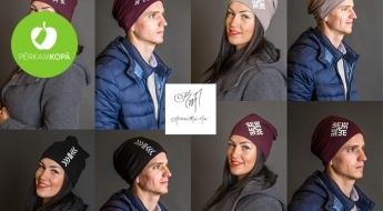 RADĪTS LATVIJĀ! Lai silti un stilīgi! Sieviešu un vīriešu kokvilnas cepures ar latvju zīmēm