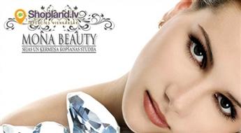 Mona Beauty: dimanta mikrodermabrāzija sejas ādas atjaunošanai un liftingam