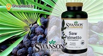 SWANSON: Saw Palmetto N100 - zāģzobainās sabaļpalmas ekstrakts vīrieša veselībai
