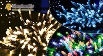 Baltas, zilas, krāsainas LED virtenes  (100 vai 250 lampiņas)